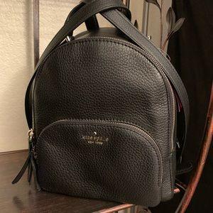 Kate spade medium backpack black pebble leather
